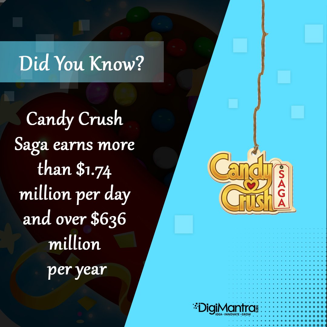 Hurry up..!! Find yourself a great game idea.  #candycrush #game #development #innovation #business #growth #digimantralabs #digitian<br>http://pic.twitter.com/axiInLL8bk