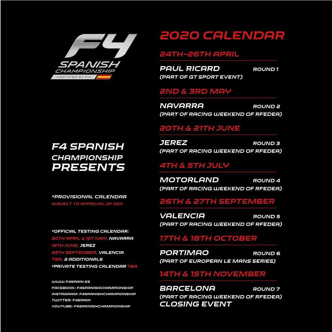 Calendario_f4_española_2020