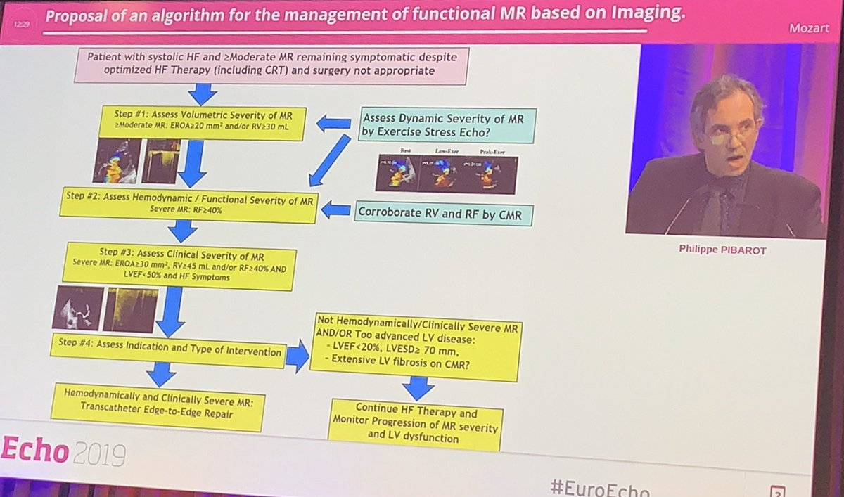 Proposal Algorithm for the management of FMR based on Imaging by Dr @PPibarot at #EuroEcho 2019.