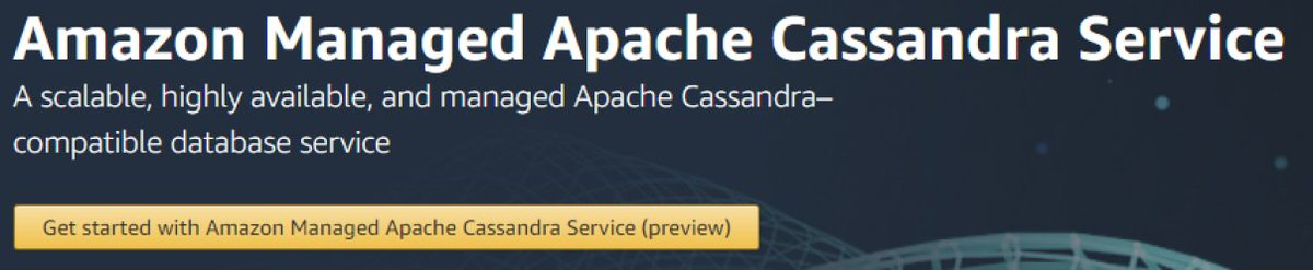 Amazon Managed Apache Cassandra Service - Amazon Web Services