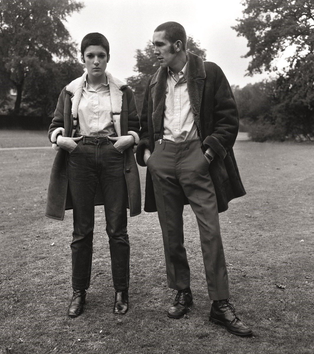 Skinhead couple in Finchley, 1969. Photo by Doreen Spooner <br>http://pic.twitter.com/qy4VVY1CNp