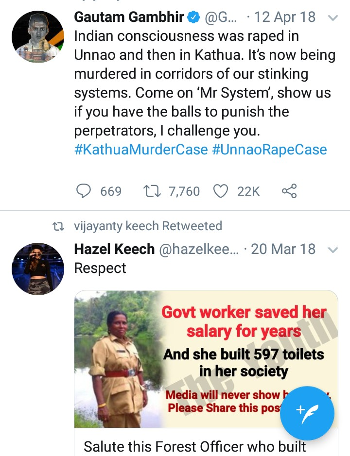 Better correct ur home firstUr 2 first tweets are enough to tell the whole story of #Disgusting #Shameless #India#TheRapistsCapitalWhere ur countrymen don't even spare a few months old girl & raped herGo home, build toilets & save girls.I do feel their pain & sorry for them
