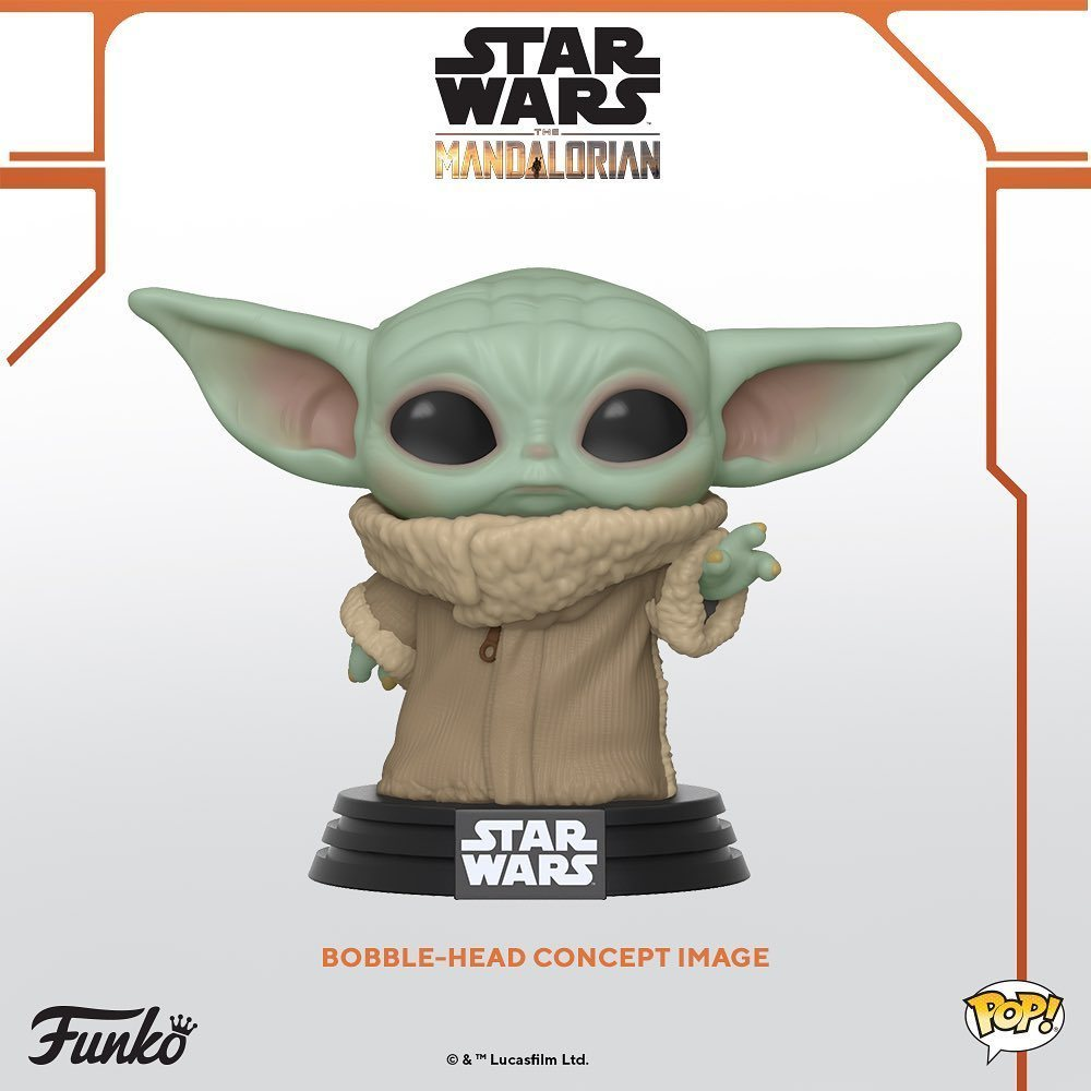 """Funko, leve todo nosso dinheiro! 💸.A Funko revelou esta semana o lançamento de colecionáveis do """"Bebê Yoda"""" de The Mandalorian, a série live-action de Star Wars. ..@starwars @themandalorian @disneyplus @disney #StarWars #Funko#FunkoPop"""