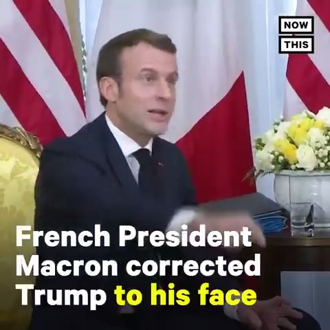 Macron called out Trump's ISIS lies right to his face