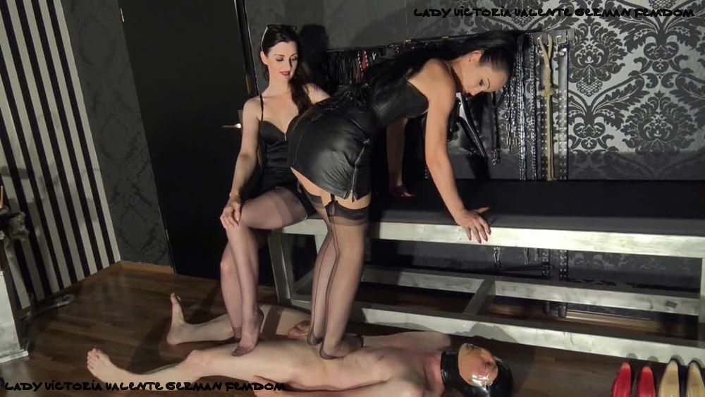 German Femdom Double Caning With Ezada Sinn And Lady Victoria Valente