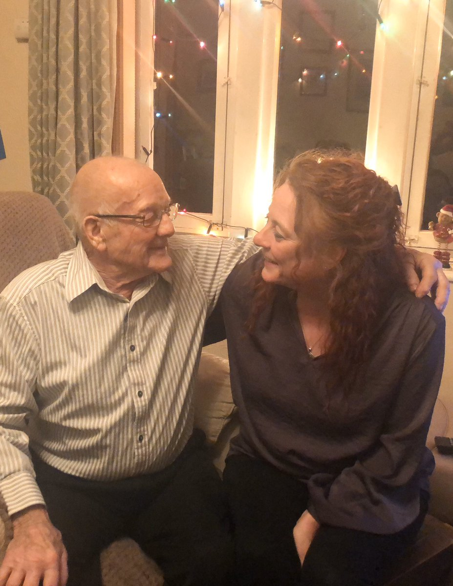 Tonight so chuffed to see my dad on his 87th birthday. At 16yrs started work down the pit. 18yrs joined Royal Signals & served for 15 years. Pit workshops after being de-mobbed then worked as a car mechanic. A believer in humanity throughout. Absolute hero! Happy birthday, dad x