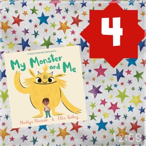 Day 4 of our #inclusiveadventcalendar: MY MONSTER AND ME by Nadiya Hussain (@BegumNadiya), Ella Bailey (@Ellastration) and @HachetteKids. Simple yet clever, important yet entertaining. A delightful picture book about addressing anxiety issues before they grow too big to handle