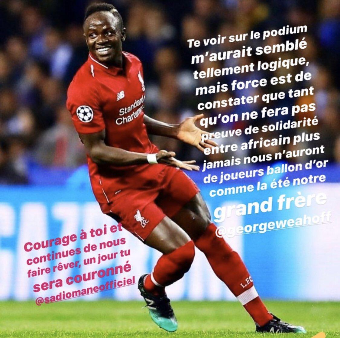 Le message classe de Didier Drogba à Sadio Mané.