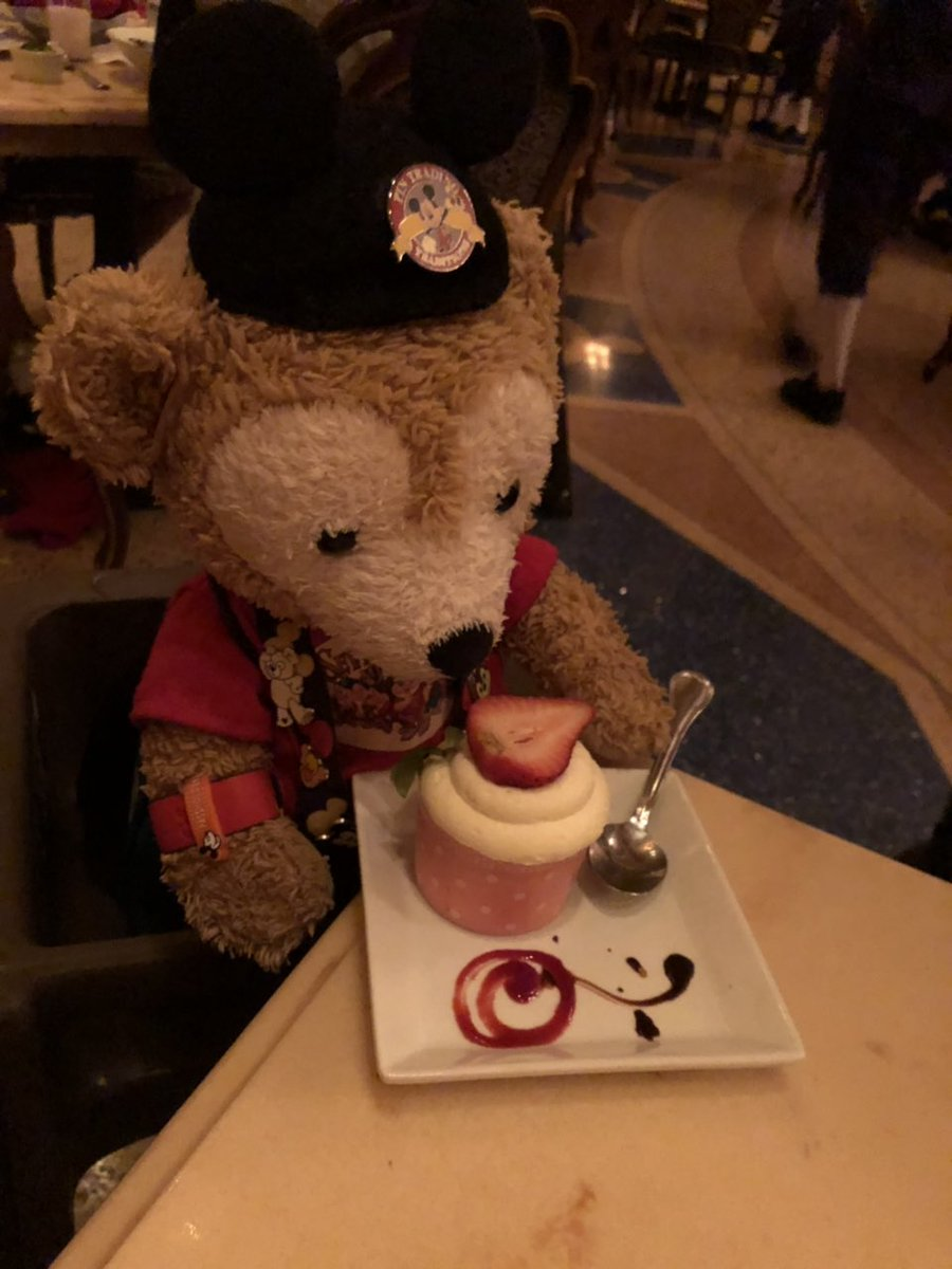 Fond #Disney memories! #BeOurGuest most scrump-duffer-Yummers strawberry cupcake! Get better soon mommy! I need to go back to Disney!