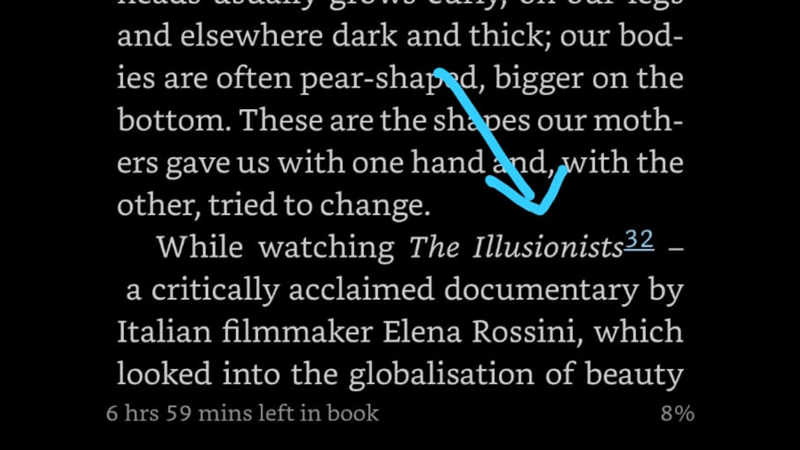 """Yesterday my friend Moza sent me a message that said: """"look what I stumbled upon"""" – with this attachment. It's a mention of my documentary @illusionists in the book """"The Greater Freedom: Life as a Middle Eastern Woman Outside the Stereotypes"""" by @alyamooro. IT MADE MY WEEK 💗📖"""