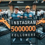 🎉 🙌 We've just become the first @f1 team to reach 5 million followers on @instagram.  Thank you to everybody who has followed us on our journey this season. 🧡 ➡️  https://t.co/hCWh9ll7uG