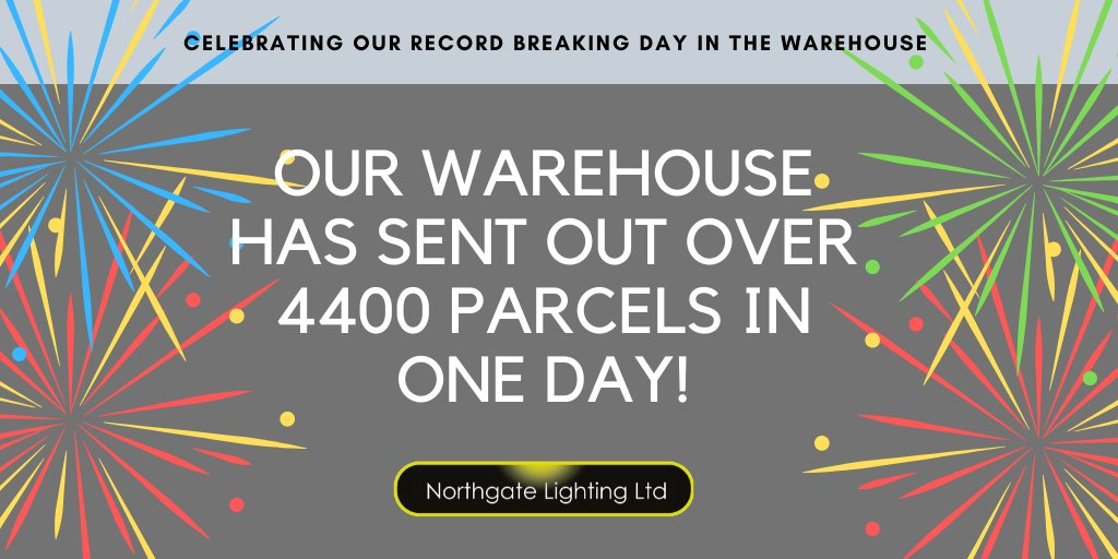We're celebrating a record breaking day in the warehouse after having sent out over 4400 parcels to customers yesterday! Are you one of the global businesses that share in Northgate's #greatservice?