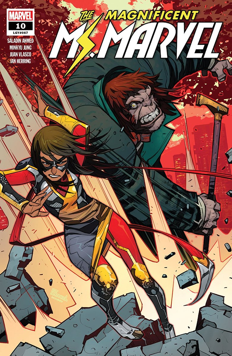 Magnificent Ms. Marvel #10: A knockdown fight with Mr. Hyde and further superhero troubles stand between Kamala and her family. @saladinahmed @MinkyuJungArt @El_Vlasco & #IanHerring dial up the action without losing the heart; our 8/10 review is here: bit.ly/2OPSkBh