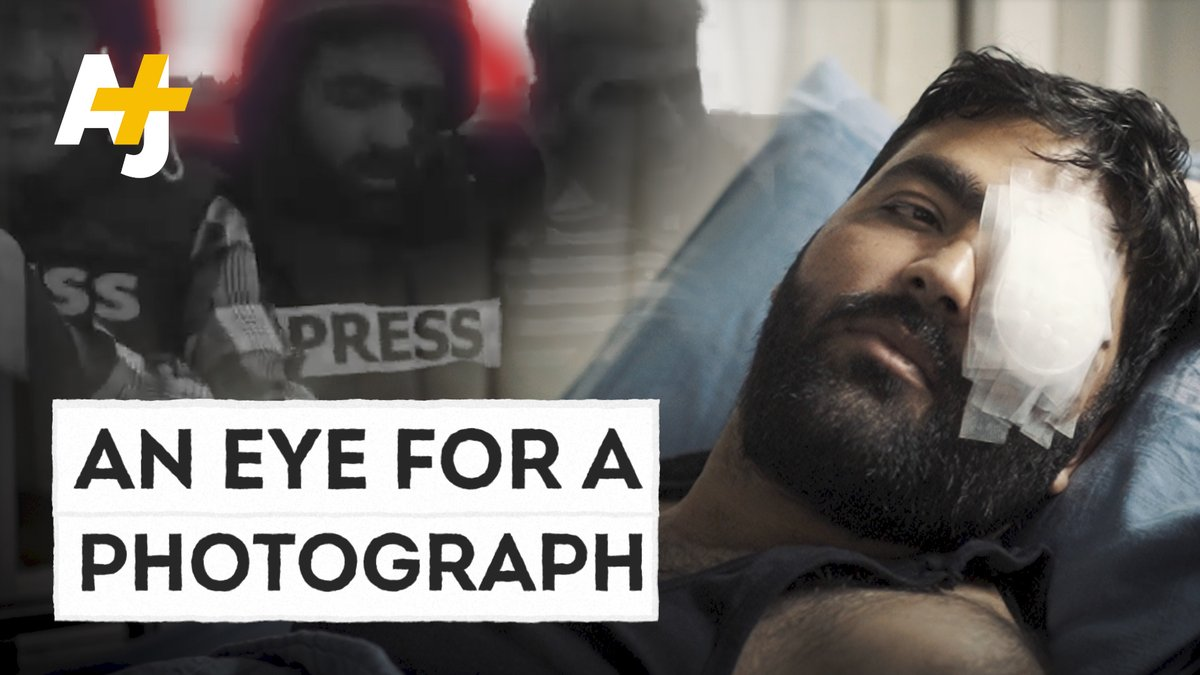 Image for the Tweet beginning: Palestinian photojournalist #MuathAmarneh lost an