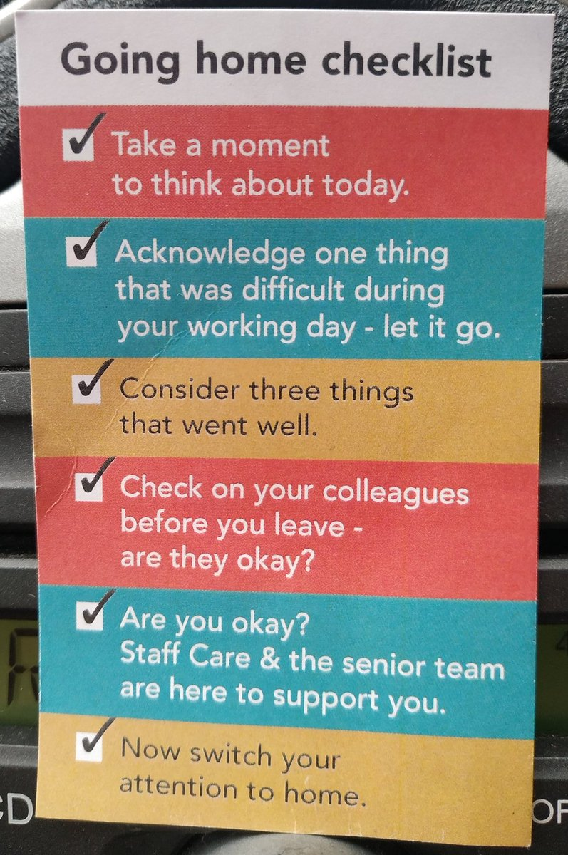 A checklist we can all get behind 👏 #wellness #wellbeing #community #checklist