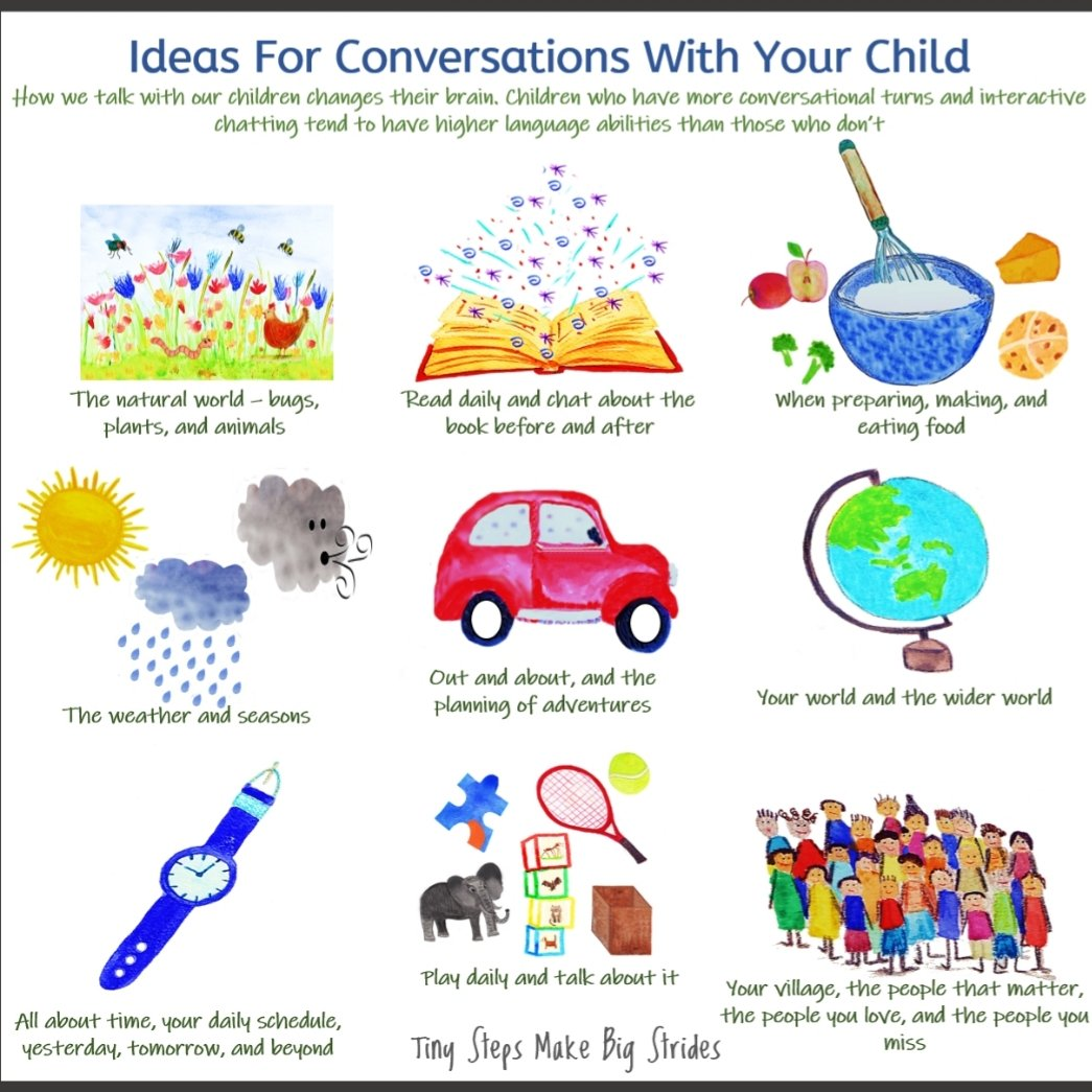 A good old chat, full of turn taking and listening has amazing benefits for language development.