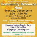 Image for the Tweet beginning: The next Community Resource Hour