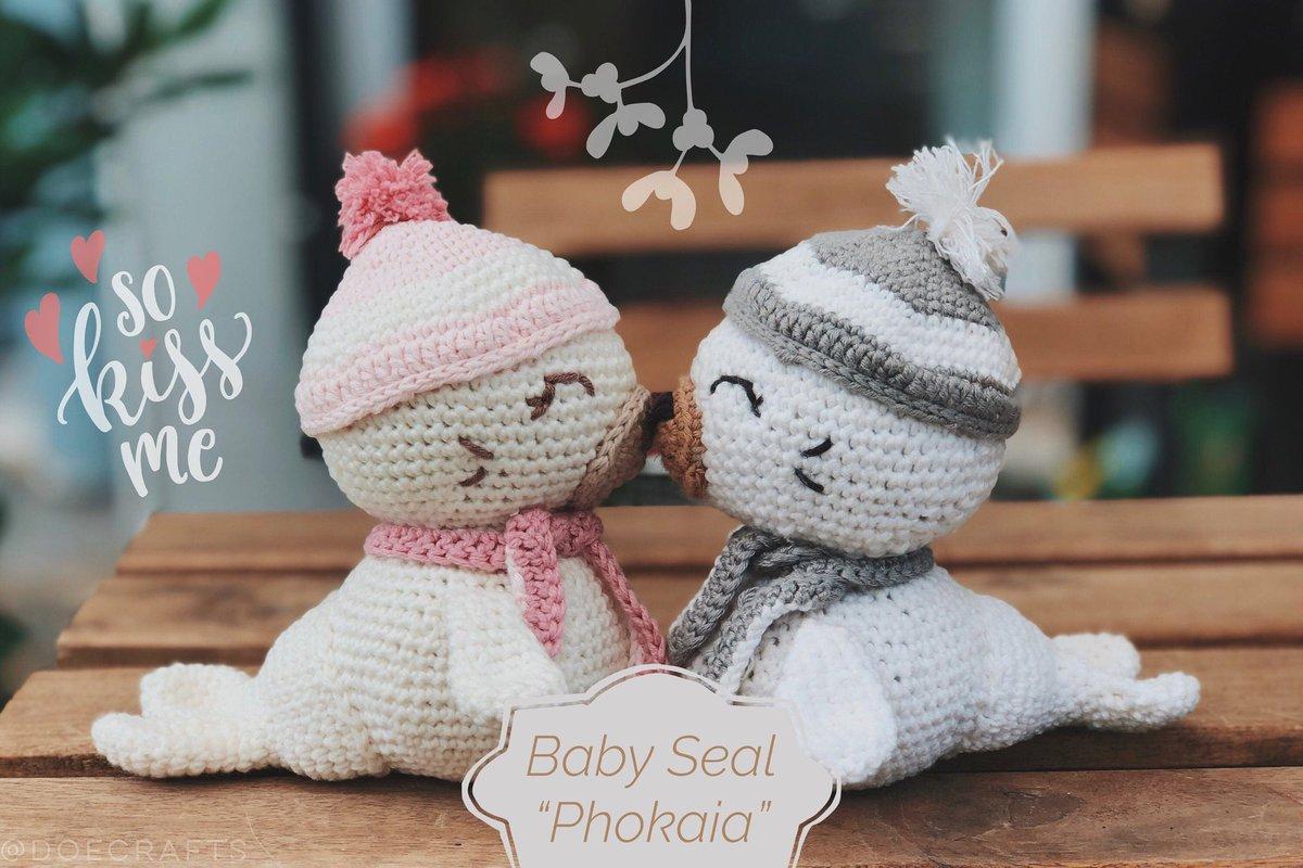 Baby Seal Amigurumi - Free Crochet Pattern - StringyDingDing | 800x1199
