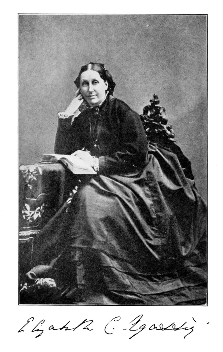 Born on this day in 1822, Elizabeth Cabot Agassiz was an educator, naturalist, writer, and the co-founder and first president of Radcliffe College.