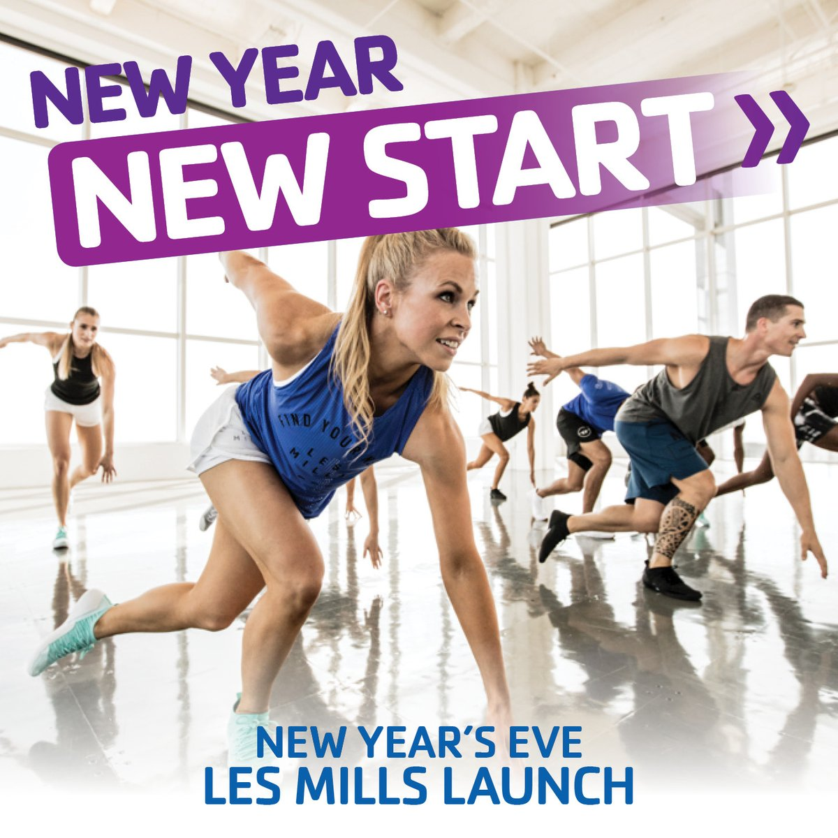 "New Year, new you! Join us for the ""world's most popular workout"" at our @LesMills Launch Party TUE, DEC 31. Sign-up to sample BODYPUMP, BODYFLOW, and BODYCOMBAT from 8:15-11:45 AM. FREE and open to the community >  http:// bit.ly/37yMADc     . #LesMillsLaunch #FreeWorkout<br>http://pic.twitter.com/GACuNnk2sz"