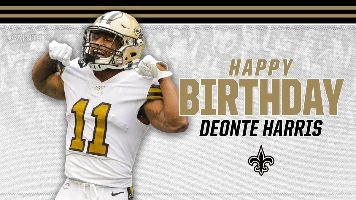 RT @Saints: Happy Birthday Deonte Harris!   ⚜️ Retweet to #ProBowlVote ⚜️   #Saints https://t.co/TxwqoOe68E
