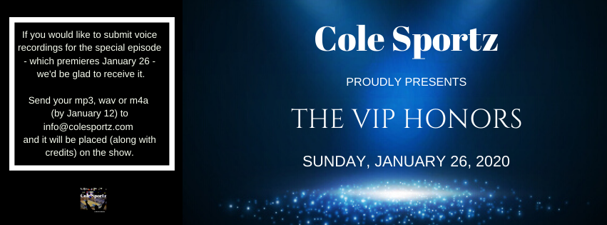 The #awards show is about to make its return! The 2020 VIP Honors #celebration is in need of - presenters (nine) - red carpet host - audience members - voiceover person Thank you very much! #colesportz #colejohnson #show #special #anniversary