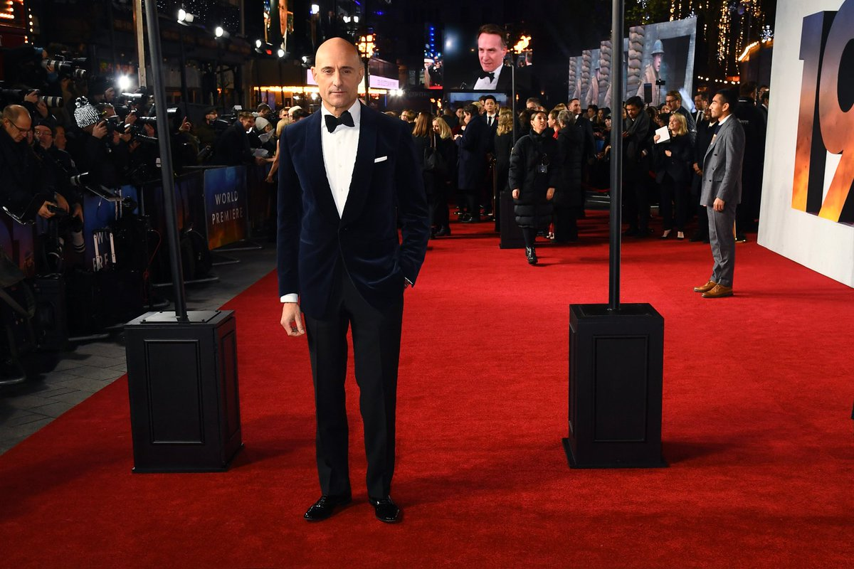 The incredibly talented Mark Strong steps out at the World Premiere and Royal Film Performance of #1917Film.