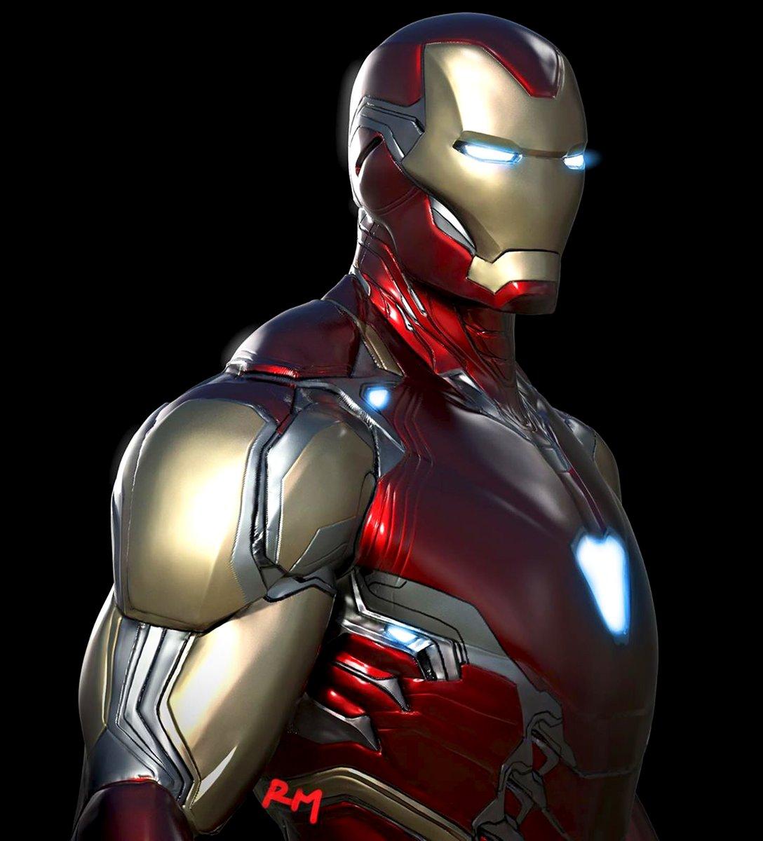Official concept art of the final design for Iron Mans Mark 85 suit from #AvengersEndgame: (via @MeinerdingArt)