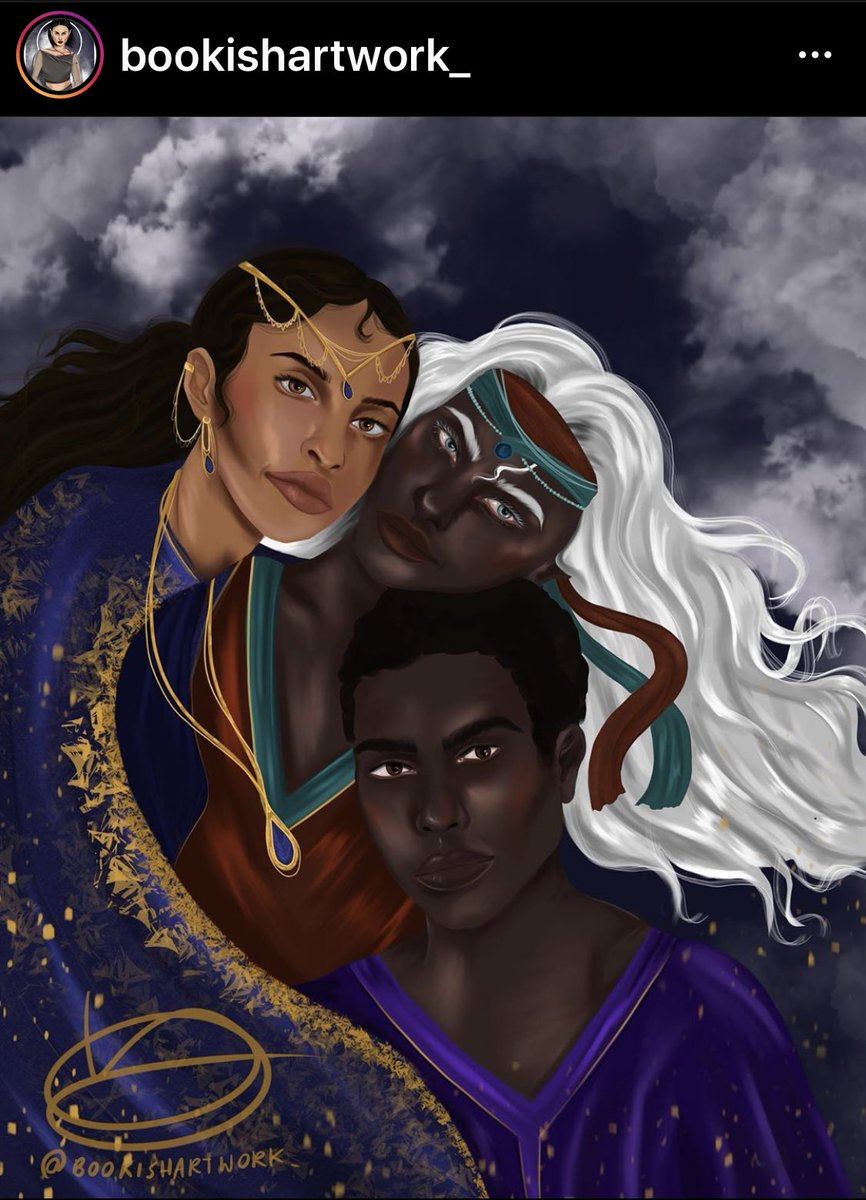 i don't see many squad photos 😍 @bookishartwork_ this is awesome!!  #fanartfriday  #childrenofbloodandbone  #vengeanceontheseheauxes