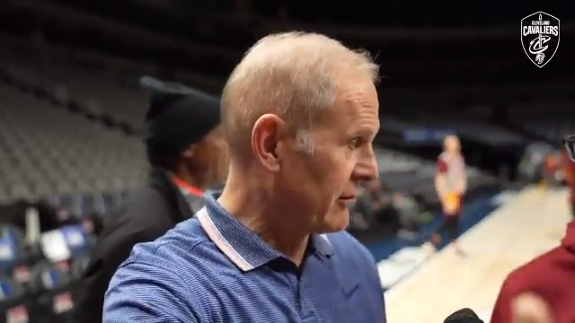 Coach @JohnBeilein digs in on what he needs to see from the squad tonight in Texas → http://on.nba.com/2D76Yxl  #BeTheFight