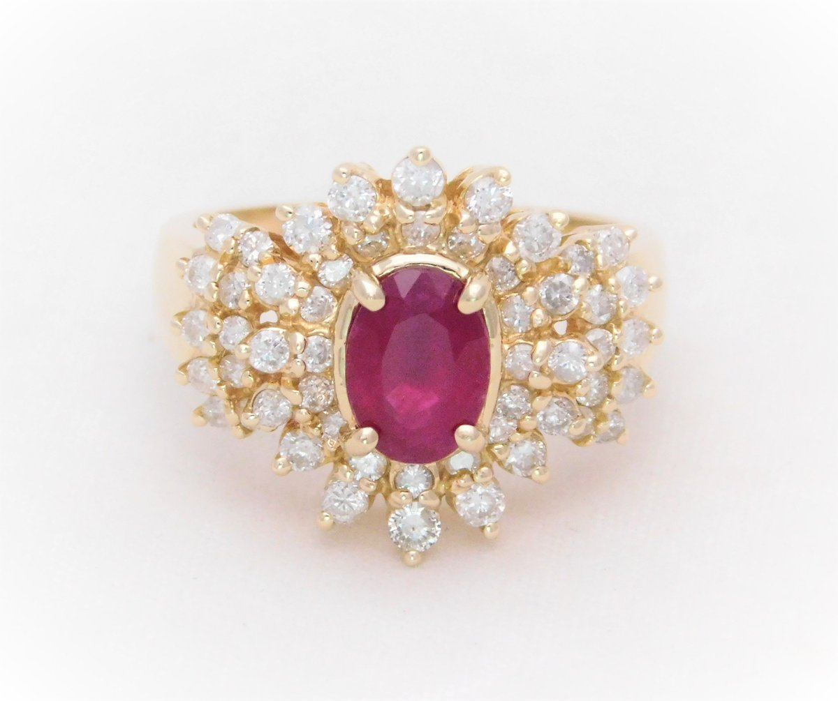 Excited to share the latest addition to my #etsy shop: 2.40 Carat Ruby and Diamond Cocktail Ring https://etsy.me/2QHPTC3 #estatejewelry #rubyring #rubiesanddiamonds #vintagecocktailring #redruby #cocktailring #dinnerring #ovalruby #birthstonejulypic.twitter.com/UYcYFE2aMi