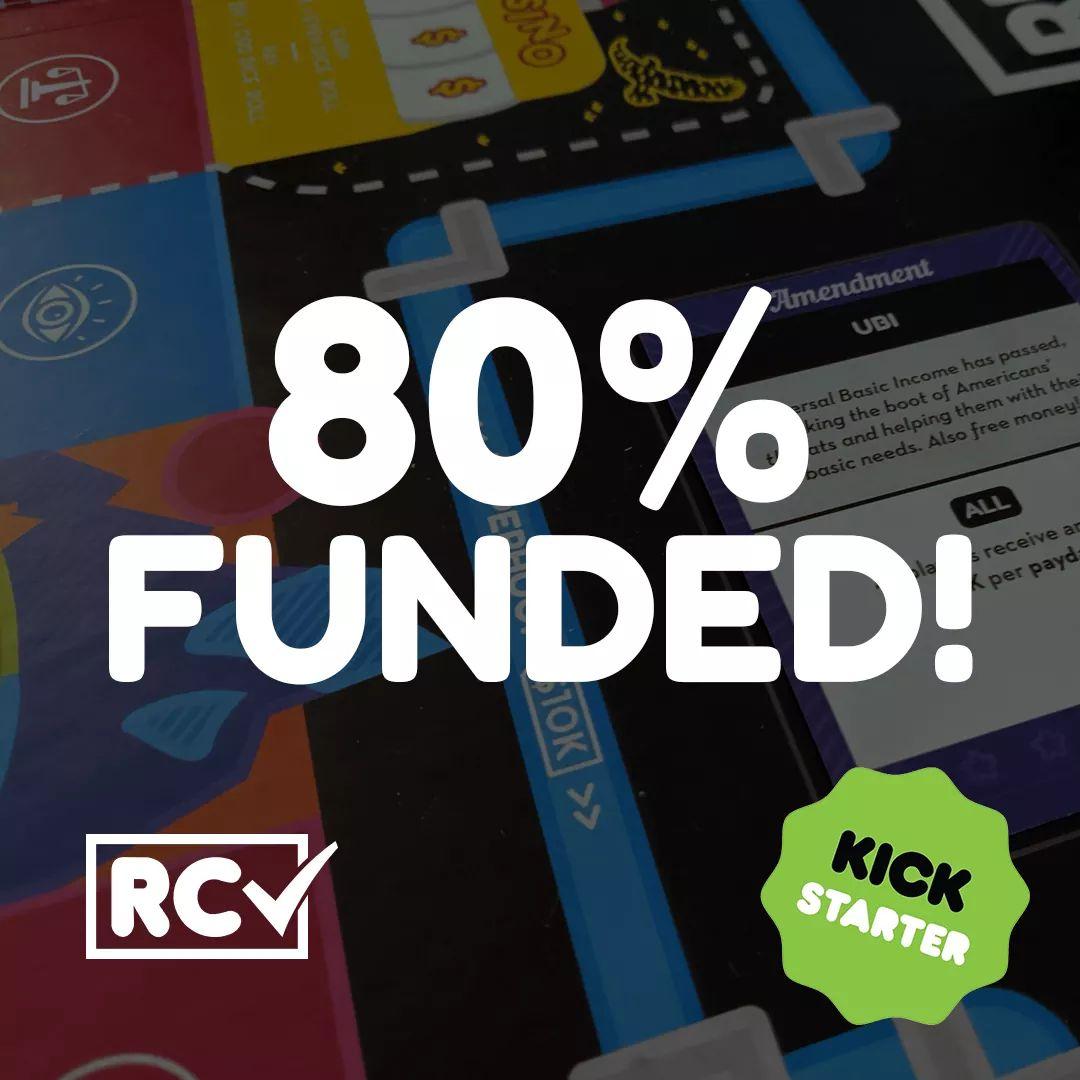 80% FUNDED!!! We are feeling the love ❤️❤️  Help us reach our goal: https://t.co/FmfvXZ28AK  #kickstarter #boardgames #tabletopgames https://t.co/2Ys8x1DbN6