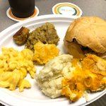 Image for the Tweet beginning: Today's potluck was overflowing plates!