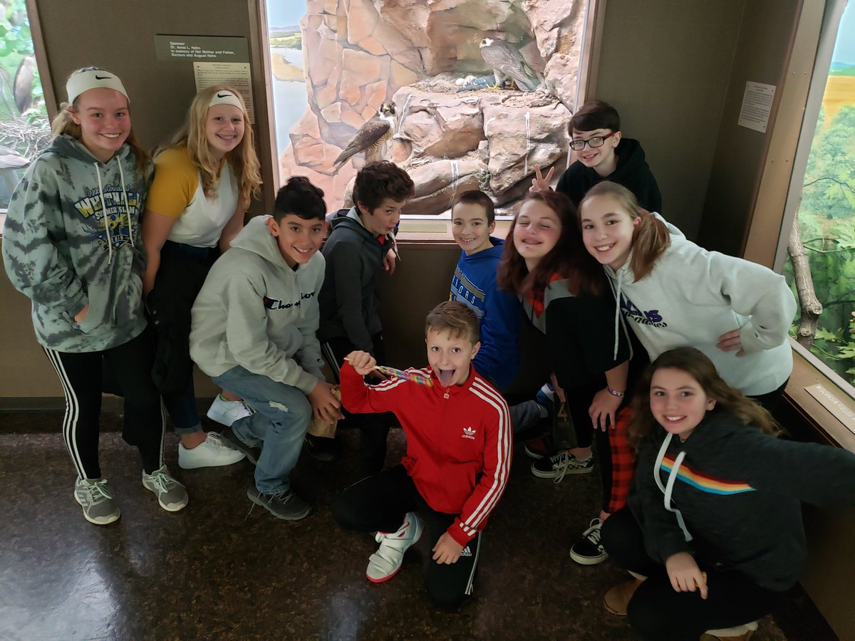 When you see an exhibit on Falcons, you have to take a photo of *your* Falcons. Thanks to @MPMEducation  for an excellent Friday field trip. #WhitnallPride #WMS #Falcons #MilwaukeePublicMuseum pic.twitter.com/0r8azLUSzv