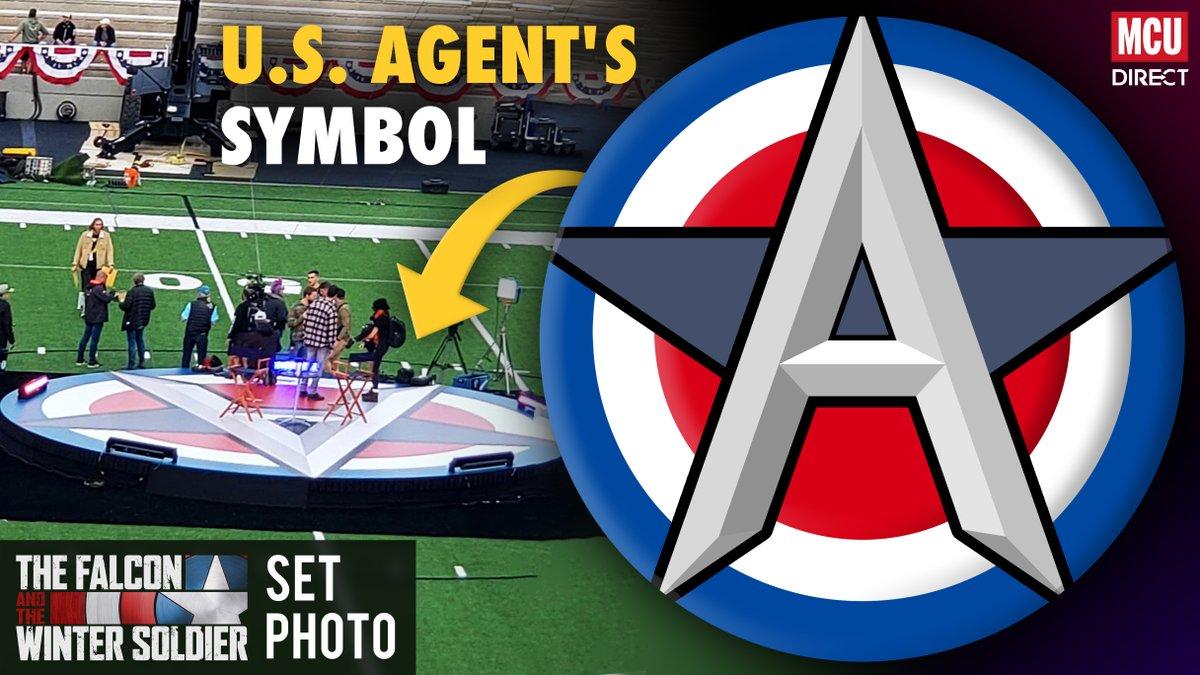 A new #TheFalconAndTheWinterSoldier set photo has seemingly revealed the propaganda symbol of the U.S. Agent! (Photo via Reddit user Chromereloaded)