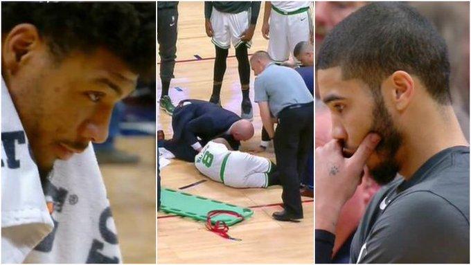 【影片】Walker遭遇頸椎重傷,被擔架抬出場,聰明哥眼眶泛紅,Tatum一臉沮喪!