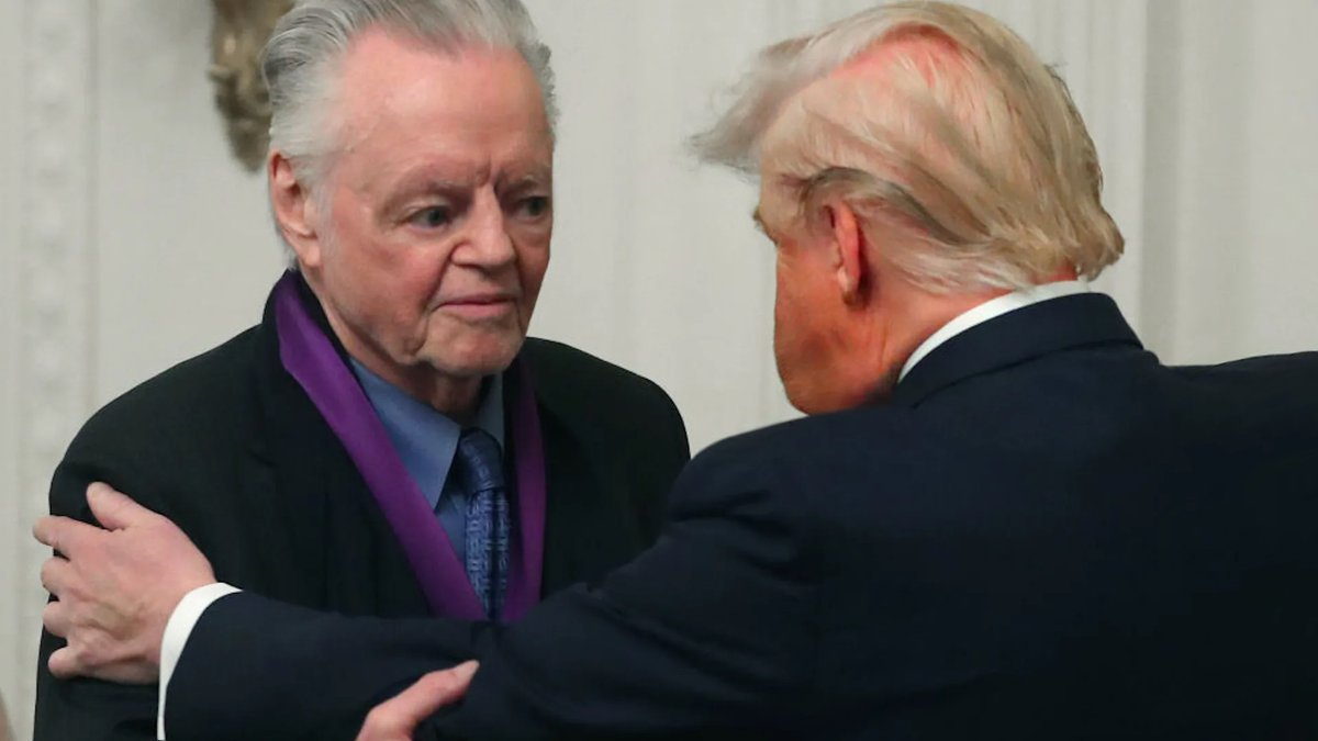 Mr. Trump Gives Jon Voight A Medal  Don liked the way actor @jonvoight spoke about him, so he gave him an award! Pretty cool.