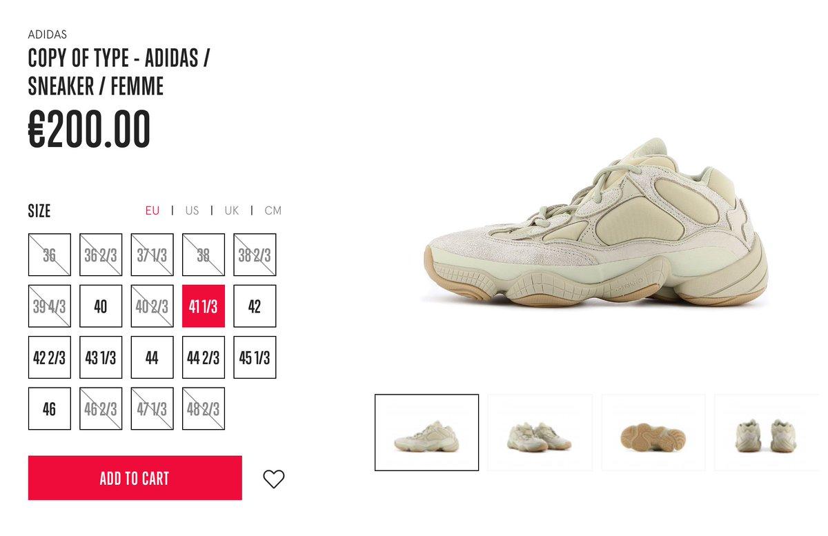 Sizes via Opium Paris adidas Yeezy 500