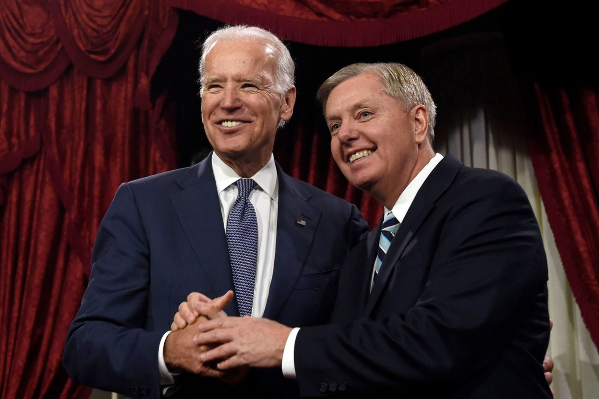 Joe Biden: Lindsey Graham is about to go down in a way he'll regret his whole life rol.st/37rNqBL