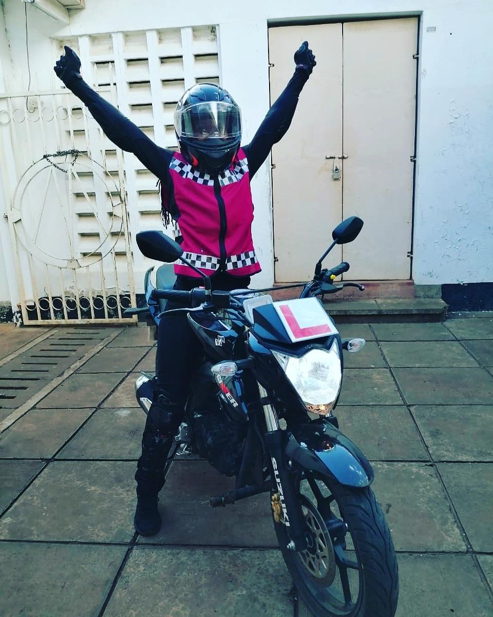 Congratulations Toni, welcome to the fun side of life. #girlswhoride #girlrider #girlsdoitbetter #bikerchick #inkedsisterhood #ISH #funsideoflifepic.twitter.com/0E83nl8wsb