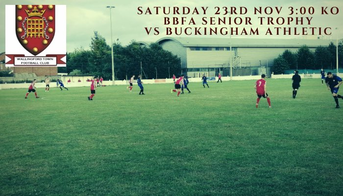 @BerksBucksFA Senior Trophy It is third time lucky as we welcome @BuckinghamAth to The Hithercroft with today's winner's progressing to the quarter final stages. Come and support the boys #utw
