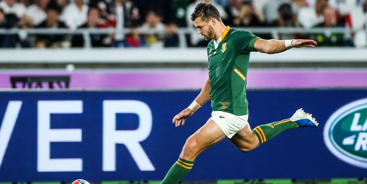 🎥 WATCH! Relive the RWC 2019 Final ‼ Pollard, Mapimpi and Kolbe score 🧨 Explosive performance by Bok pack 🏉 Extended highlights of SA triumph 🔗 bit.ly/35rq1OV #StrongerTogether #RWC2019