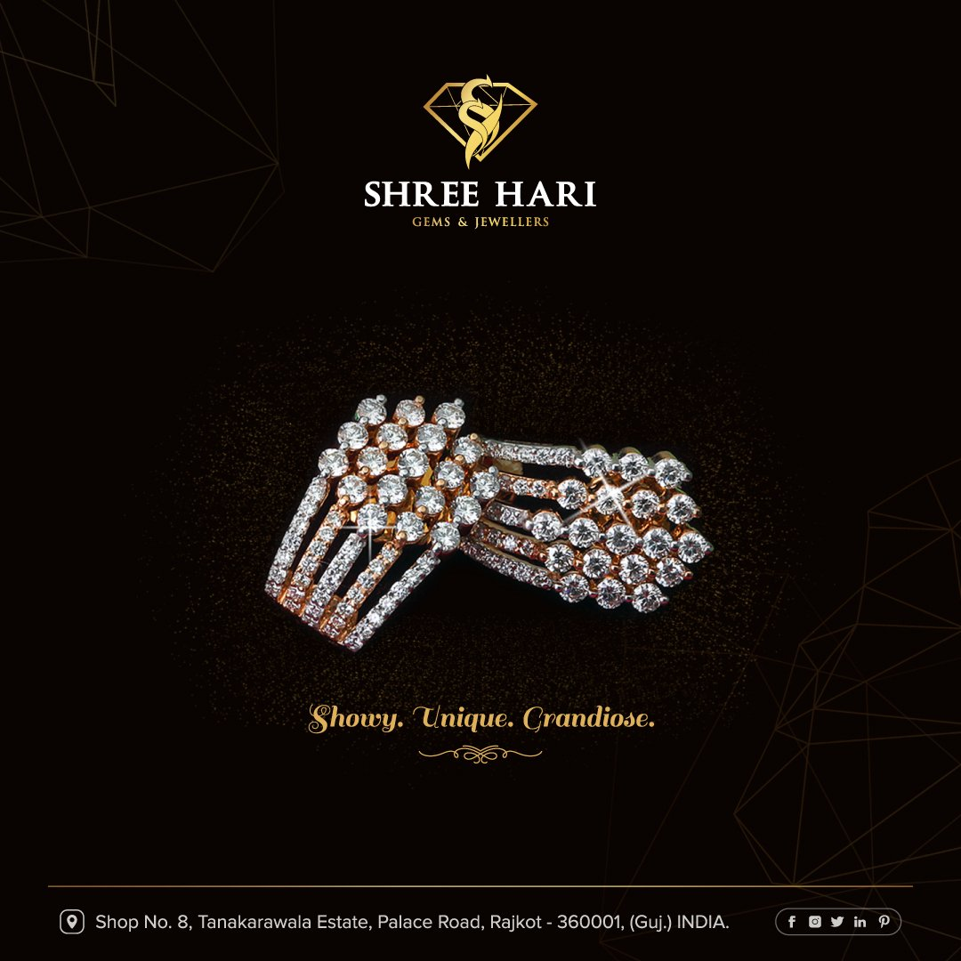 Showy. Unique. Grandiose. . . . #ShreeHari #ShreeHariJewellers #Jewellers #Collection #Gold #Silver #JewelryArt #GoldJewellery #Jewellery #Fashion #Gold #Bracelet #Jewels #Style #Accessories #Love #Ring #Wedding #FashionJewelry #Necklace #Earrings #Trendsetter #OnTrend
