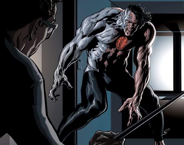 The last image from BLOODSHOT: Rising Spirit 7... with color...   He was not having a good day.  #SequentialArt by #GreyWilliamson<br>http://pic.twitter.com/jETjZWk4Gs