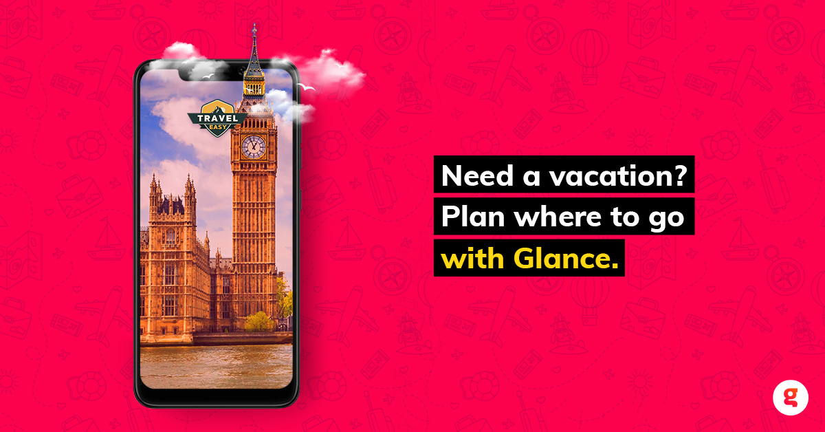 Need suggestions for holiday destinations? Glance is here for you! Get travel suggestions and tips with a Glance-enabled phone. #UnlockZindagi