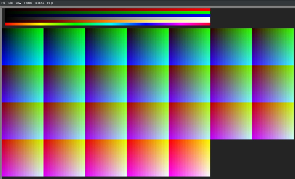 Codelobe On Twitter Rendering 24bit Rgb Colors In Xterm Uses Nearest Of A 256c Palette Xterm S Color Distance Equation Erroneously Picks Ugly Greys My Ansi Text Rendering Engine 2nd Pic Performs The