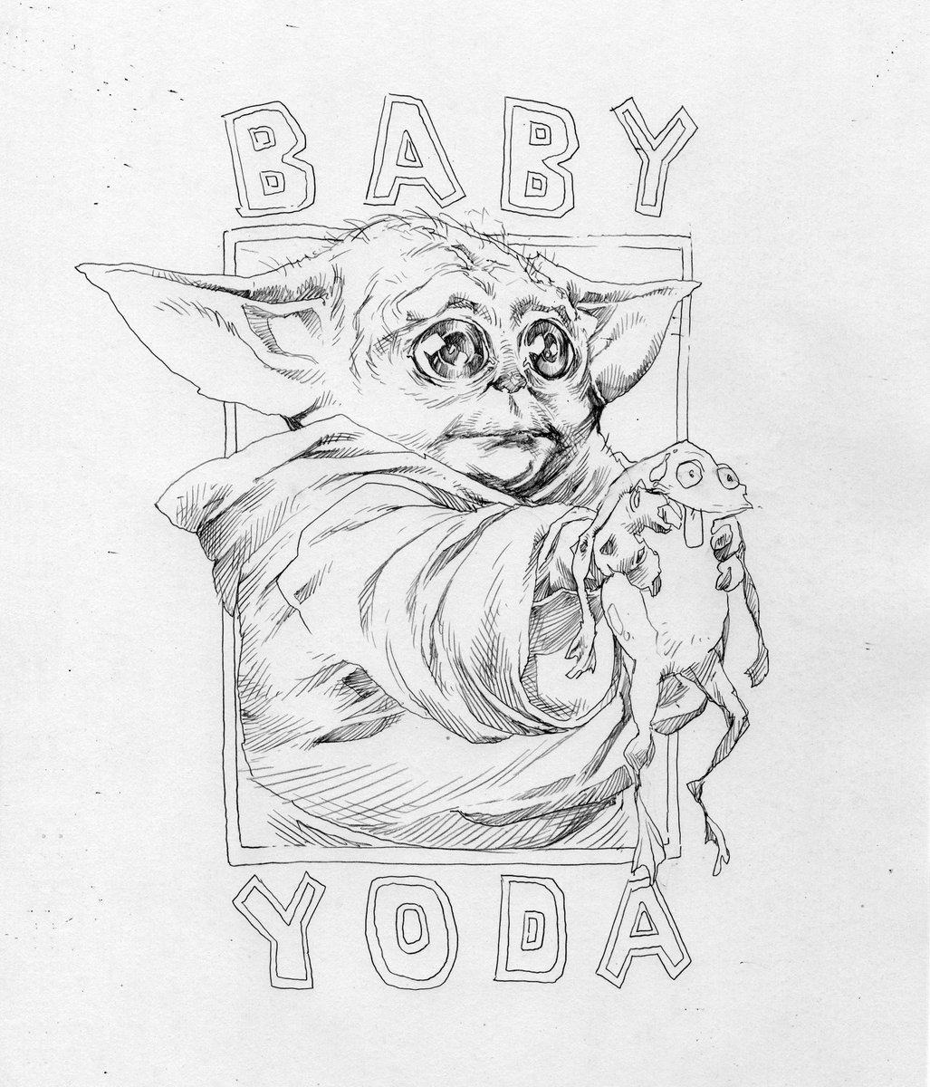 Baby Yoda Drawing Easy Face - Images | Slike