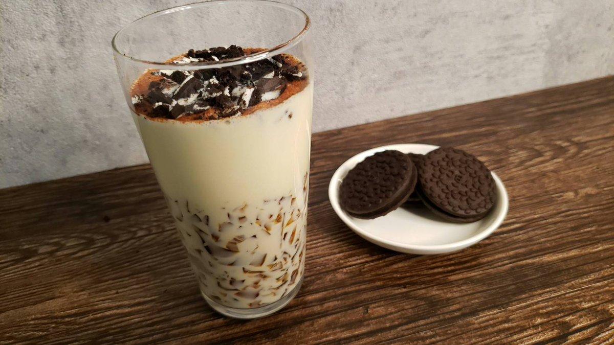 【レシピ】「ティラミスクッキーカフェオレ」タピオカの次はお前しかおらん…超簡単でインスタ映えな悪魔のドリンク