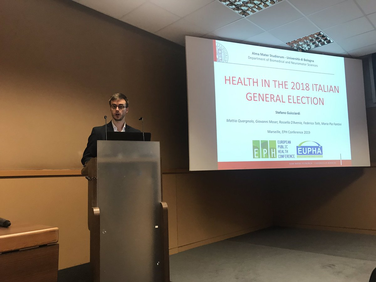 @SteGuicciardi presenting on #health in the #italian #elections @EPH_PHPPsection @EUPHActs