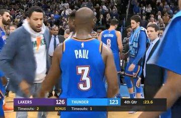 【影片】最後35秒,詹姆斯背打保羅,隊友上前協防,保羅示意:我不需要!-Haters-黑特籃球NBA新聞影音圖片分享社區